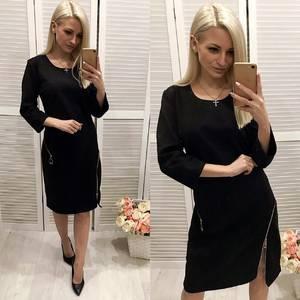 Платье короткое нарядное черное Ф4886