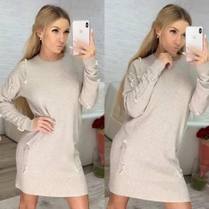 Платье короткое с длинным рукавом зимнее Ф8070
