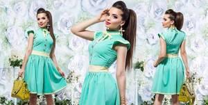 Платье короткое нарядное летнее Х8643