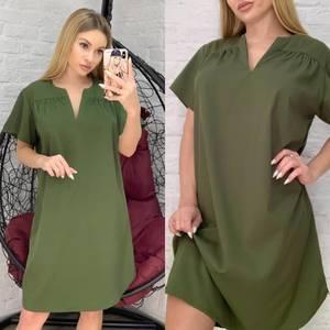 Платье короткое однотонное Я2973