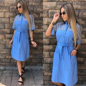 Платье короткое повседневное современное У0812