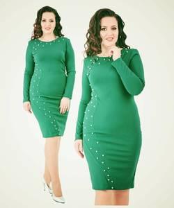 Платье короткое с длинным рукавом однотонное Х4780