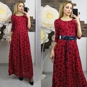 Платье длинное красное нарядное Х5594