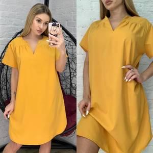 Платье короткое однотонное Я2974