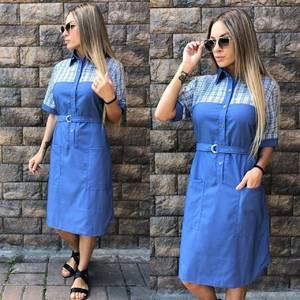 Платье короткое повседневное современное У0813