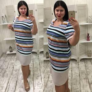 Платье короткое летнее с принтом У7526