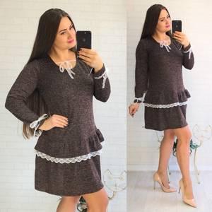 Платье короткое нарядное с длинным рукавом У8089
