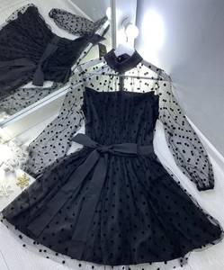 Платье вечернее нарядное с длинным рукавом современное Ш9321