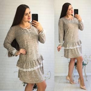 Платье короткое нарядное с длинным рукавом У8090