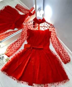 Платье вечернее нарядное с длинным рукавом современное Ш9322