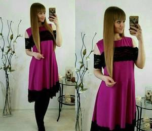 Платье короткое нарядное с кружевом У8102