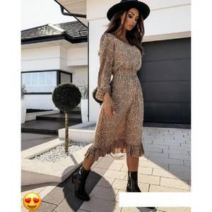 Платье длинное с длинными рукавами А53416