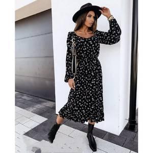 Платье длинное с длинными рукавами А53417