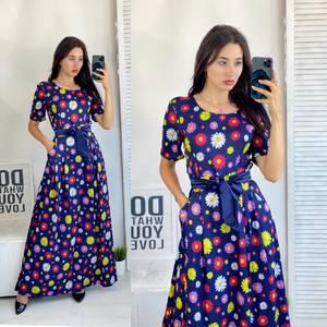 Платье длинное летнее А50682