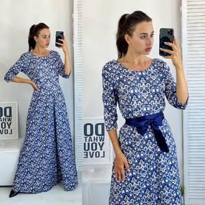 Платье длинное летнее А50685