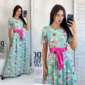 Платье длинное летнее А50686