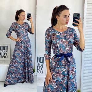 Платье длинное летнее А50687