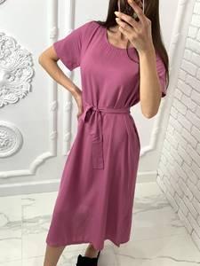 Платье короткое однотонное Я7699