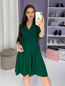Платье вечернее нарядное с рукавом 3/4 современное Ш9324