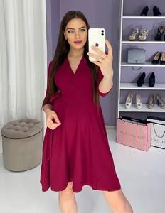 Платье вечернее нарядное с рукавом 3/4 современное Ш9325