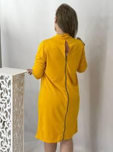 Платье короткое однотонное А47795
