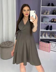 Платье вечернее нарядное с рукавом 3/4 современное Ш9326