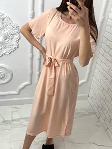Платье короткое однотонное Я7702