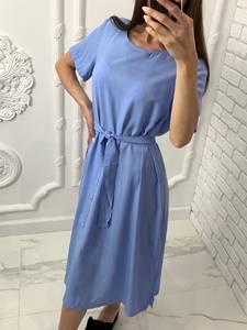 Платье короткое однотонное Я7703
