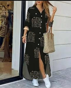 Платье длинное повседневное А45011