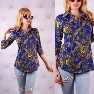 Блуза  с длинным рукавом с цветочным принтом У0083