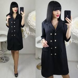 Платье короткое нарядное черное Х8688