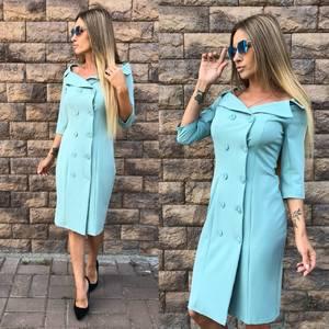 Платье короткое однотонное элегантное У0725