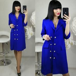 Платье короткое нарядное синее Х8686