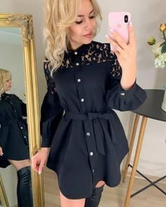 Платье короткое с длинным рукавом Я7717
