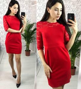 Платье короткое нарядное красное Х2847