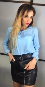 Блуза голубая Х4814