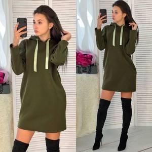 Платье короткое с длинным рукавом облегающее Ф3675