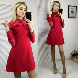 Платье короткое нарядное современное Х2630