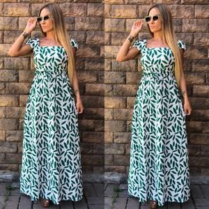 Платье длинное с принтом У7387