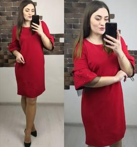 Платье короткое нарядное красное Х4069