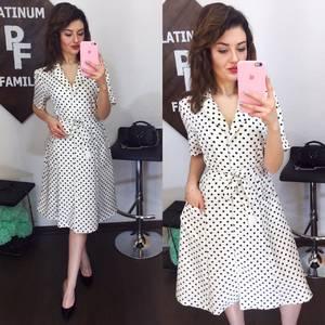 Платье короткое с принтом современное Х6184