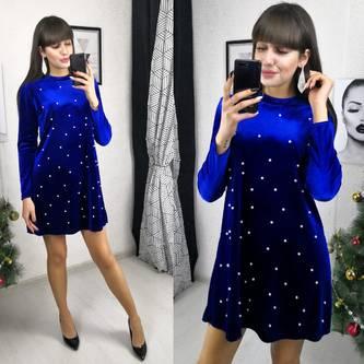 Платье короткое нарядное с длинным рукавом Х2778