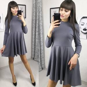 Платье короткое коктейльное с длинным рукавом Х2784