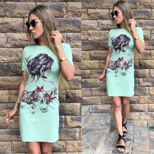 Платье  короткое современное У0968