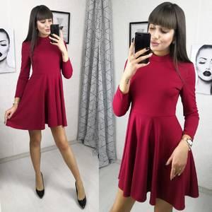 Платье короткое коктейльное с длинным рукавом Х2785