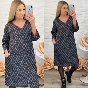 Платье короткое с принтом Ф7214