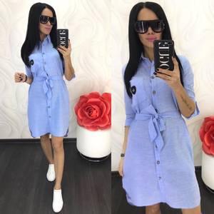 Платье короткое однотонное Ц5050