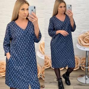 Платье короткое с принтом Ф7215