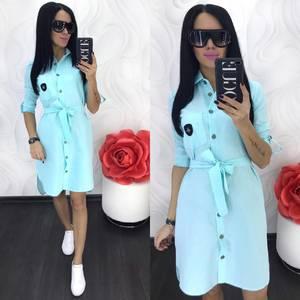 Платье короткое однотонное Ц5051