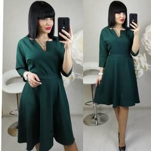 Платье короткое с рукавом 3/4 современное Х8680